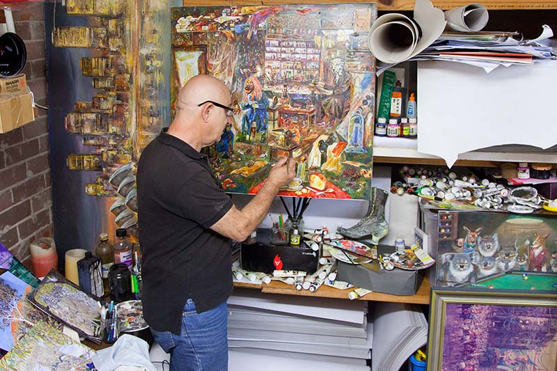 Paul Galy in his studio