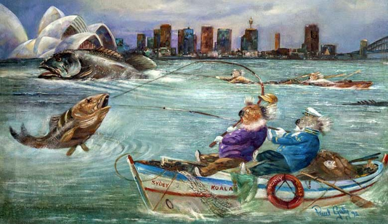 Koalas Fishing on Sydney Harbour
