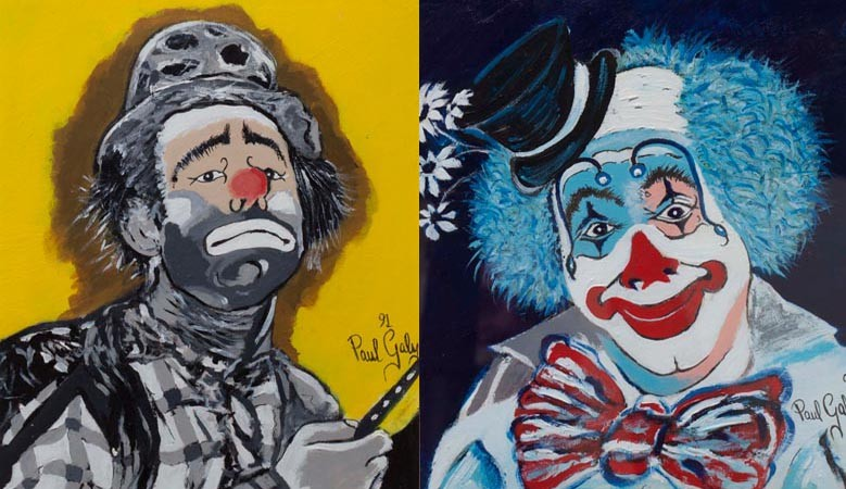 Clown series by Paul Galy